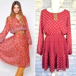 Boho Blouson Dress Size L